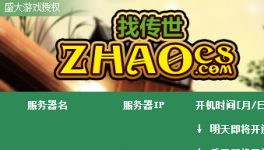 zhaocs传世发布站程序免费版
